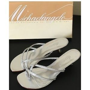 NEW Michael Angelo silver sandals